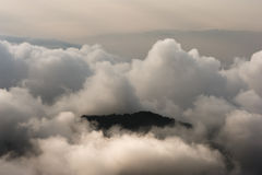 Colombia - Mountain peak in the clouds Stock Images