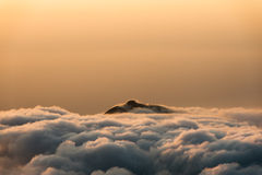 Colombia - peak in clouds at sunset Stock Images