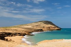Colombia, Pilon de azucar beach in La Guajira royalty free stock images