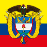Colombia Republic coat of arms Royalty Free Stock Images