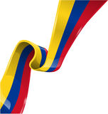 colombia ribbon flag Royalty Free Stock Image