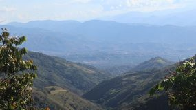Colombia`s  Mountains On Beatiful Day stock images