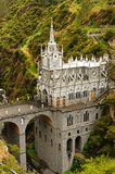 Colombia, Sanctuary of the Virgin of Las Lajas. Colombia, church of Las Lajas built between 1916 and 1948 is a popular destination for religious believers from stock images