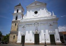 Colombia - Santa Fe de Antioquia - domkyrkabasilika av den obefläckade befruktningen Royaltyfri Bild