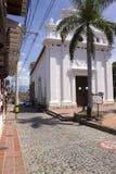 Colombia - Santa Fe de Antioquia - kyrka av Jesus av Nazaret Arkivfoton