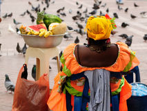 Colombia, Seller of the fruits in Cartagena royalty free stock photo