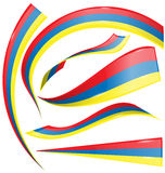 Colombia set  flag Royalty Free Stock Images