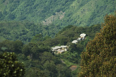 Colombia - settlement in the rainforest of the Sierra Nevada de Santa Marta Royalty Free Stock Photography