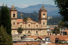 Colombia sightseeing: Cathedral in Zapiquira Royalty Free Stock Image