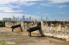 Colombia sikt på den nya Cartagenaen Fotografering för Bildbyråer