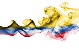 Colombia smoke flag. Isolated on a white background Stock Photo