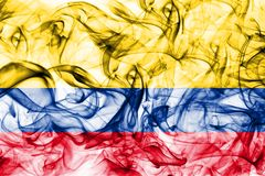 Colombia smoke flag on a white background.  stock image