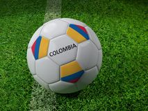 Colombia soccer ball Royalty Free Stock Photography