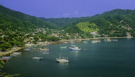 Colombia, taganga. Bay shore with amazing view stock photography