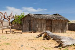 Colombia, Traditional fishing cottage in La Guajira royalty free stock photo