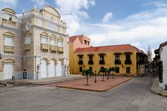 Colombia, View on the old Cartagena stock image
