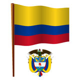 Colombia wavy flag Stock Photo