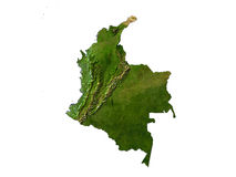 Colombia On White Background Royalty Free Stock Photos