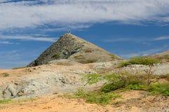 Colombia, Wilde kustwoestijn van Penisula La Guajira royalty-vrije stock afbeeldingen