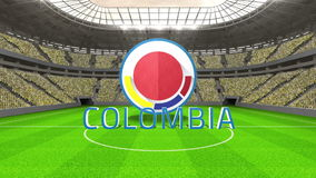 Colombia world cup message with badge and text stock footage