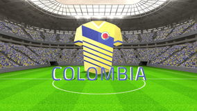 Colombia world cup message with jersey and text stock video
