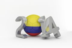 Colombia world cup 2014 message Stock Photo