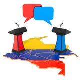 Colombiaans Debatconcept, het 3D teruggeven vector illustratie