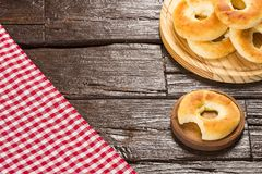 Colombian breakfast - Pandequeso traditional food - gluten - wheat flour and cheese.  stock photo