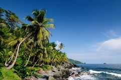 Colombian Caribbean coast near Panama border Stock Photos