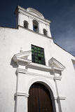 Colombian church facade Royalty Free Stock Photo
