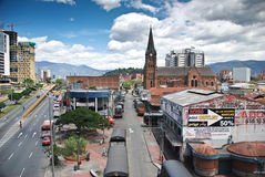 Colombian city of Medellin. In Colombia Royalty Free Stock Photo