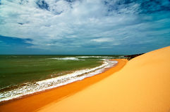 Colombian Coast. A view of the Colombian coastline in La Guajira Royalty Free Stock Photos