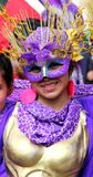 Colombian dancer in a Bogota parade Royalty Free Stock Images