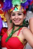 Colombian dancer in a Bogota parade Royalty Free Stock Photos
