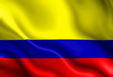Colombian flag Stock Photos