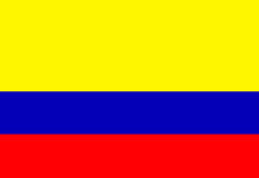 Colombian flag Stock Images