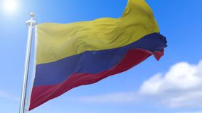 Colombian flag stock video