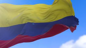 Colombian flag stock video footage
