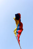 Colombian Flag Streaming Royalty Free Stock Images