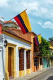 Colombian Flags in Cartagena Stock Photos