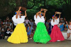 Colombian dancers street performance Royalty Free Stock Photography
