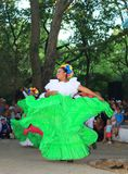 Colombian dancers street performance Royalty Free Stock Photo