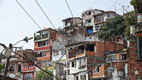 Colombian Houses And Neighborhood. A Colombian Houses And Neighborhood Stock Photography