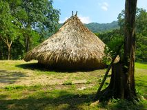 Colombian hut in El Pueblito Tayrona National Park royalty free stock image