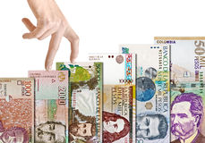 Colombian Paper Bill Growth Graph Stock Photo