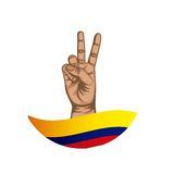 Colombian peace hands symbol Stock Photos