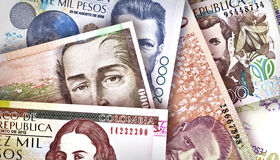 Colombian Peso Background Stock Image