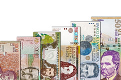 Colombian Peso Paper Bill Growth Graph Stock Photos