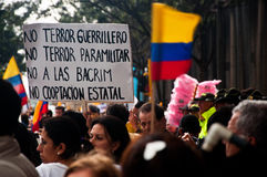 Colombian Protesters Royalty Free Stock Photos