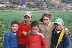 Colombian rural children Royalty Free Stock Photos
